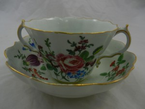 An 18th century Worcester Chocolate cup and saucer SOLD - £1,250.00