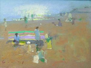 Fred Cuming b.1930, 'Sea Dazzle', Oil on board SOLD - £1,500.00