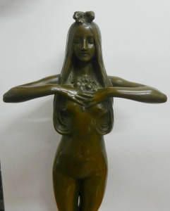 In the manner of Paul Philippe (1870-1930), a patinated bronze figure, with Goldscheider foundry seal, 30.5cm high, SOLD - £340.00