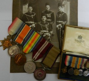 WWI - A group of five medals and accompanying miniatures belonging to Lieutenant Augustine Georgetti, 2/799 of the New Zealand Expeditionary Force, SOLD - £2,600.00